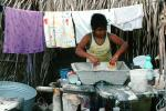 Girl, Washing Clothes, Washingline, Punta Mita, PDLV01P02_01B