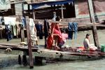River, Ramp, Hanging clothes, drying, Washingline, Bangkok, PDLV01P02_19