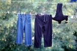 Jeans, Hanging clothes, drying, clothesline, Clothesline, Washingline, PDLV01P09_08