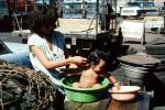 Boy, baby, washing, mother, son, San Salvador, El Salvador, PDRV01P03_13