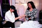 Woman Paying Cash, Wallet, buying a wedding dress, PDSV03P04_11