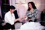Woman Paying Cash, Wallet, buying a wedding dress, PDSV03P04_12