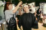 Woman in Rollers, Hair Curler, perm, perming, beautician, PFBV01P12_05