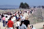 Opening Day Crissy Field, Crowds, walking, people, path, 3rd May 2001, PFFV04P10_01