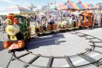 Train, kiddie ride, figure eight, Marin County Fair, California, Rideable Miniature Train, PFFV04P10_17