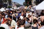 People, Crowds, Crowded, Haight-Ashbury Fair, Haight Street, June 2002, PFFV05P04_15