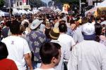 People, Crowds, Crowded, Haight Ashbury Fair, Haight Street, June 2002