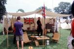 Revolutionary War re-enactment, tent, flag