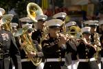 USMC, Marching Band, Brass Instruments, Trombone, Suits, Hats, Uniforms, Music, PFPD01_188