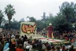 George Washington, Father of our Country, Map of the United States, USA, Rose Parade, 1950, 1950s, PFPV03P10_19