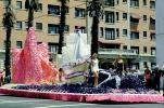 Portola Discovers San Francisco Bay, Miss Universe Parade, Long Beach, California, 1955, 1950's