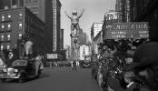 Two Acrobats, Uncle Sam, CBS Radio Theatre, Movie Film Car, Crowds, November 1938, 1930's, PFPV04P02_10