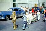 Robots on Parade, Bunny Rabbits, suits, cars, strollers, Car, automobile, 1950s
