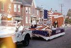 Tree Experts White Jeep, Sailor, Betsy Ross Float, July 4th Parade, Taneytown, Carroll County, 1950s, PFPV05P12_04