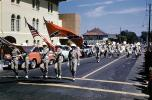 Color Guard, Confederate Flag, Racism, terrorist, Strawberry Festival, Lakeland Parade, car, automobile, vehicle, street, road, 1950s, PFPV05P13_07