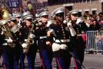 Marine Corps, Marching Band, Dress Blues, Formal, Saxophone, Trombone, 1950s, PFPV07P09_07