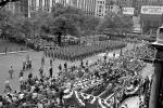 General Douglas A MacArthur, Parade, New York City, Soldiers Marching, April 20, 1951, 1950s, PFPV07P14_18