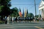 Marching Band, Color Guard, Memorial Day Parade, Bernardsville, 1950s