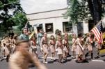 Brownies Marching, Color Guard, June 1965, 1960's