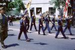 Cub Scouts Color Guard, Marching, June 1965, 1960's