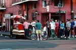 French Quarter, hot dog stand, Bourbon Street