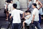 Boy and Girl on a bike, PFSV04P13_10