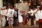 Crowds, Umbrella, Oaxaca, Mexico