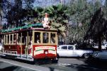 Cable car, automobiles, vehicles, trolley, Cadillac, Chevy, December 1968, 1960s, PFTV03P03_07