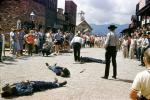 Shootout, Cowboys, Gunslinger, Western Town, Main Street, Ghost Town In The Sky, Maggie Valley, western North Carolina, July 1961, 1960s, PFTV04P02_08