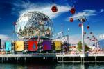 Geodesic Dome, Expo-86, (1986 World Exposition), Vancouver, 1980s