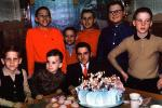 Cake, Candles, boys, 1950s