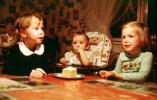 One Year Old, Cake, Candle, Girls, Boy, HighChair, 1982, 1980s