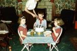 Boys, Girls, Cake, Table, 1950s, PHBV03P09_01