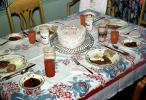 Heart Cake, Table, Plates, Cups, Tablecloth, October 1959, 1950s, PHBV03P09_11