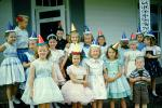 Party Dresses, smiles, smiling, Girls, Boy, 1950s, PHBV03P10_15