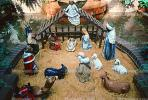 Nativity Scene, manger, Baby Jesus, crib, lamb, Mother Mary, camels, oxen, Three Wisemen, angels, figurines, PHCV01P08_13