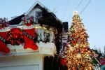 Christmas Tree decorated, decorations, outdoors, outside, PHCV01P09_13