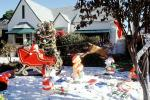 sled, Ms. Santa Claus, bear, tree, presents, tin soldier, storybook scene, Oxnard