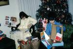 Boy, Girl, Sister, Brother, Presents, games, tree, Decorations, Ornaments, Christmas Tree decorated, PHCV02P09_09