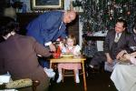 Girl, Men, Presents, Decorations, Ornaments, Christmas Tree decorated, 1950s