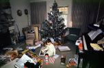 Presents, Decorations, Ornaments, Tree, Christmas Morning, boy, piano, 1960s, PHCV02P11_14