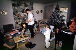 Presents, Decorations, Ornaments, Tree, Christmas Morning, boy, piano, 1960s, PHCV02P11_15