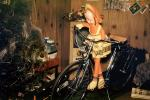 Christmas Tree, Bicycle, Doll, Living Room, television, 1950s