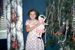 girl, doll, Presents, Decorations, Ornaments, Tree, Christmas Tree decorated, 1950s, PHCV03P05_08