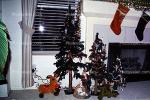 Fireplace, Stocking, Tree, Presents, Decorations, Ornaments, 1940s