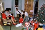 Tree, infant, dad, mom, Presents, Decorations, Ornaments, 1950s, 1940s