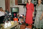 Grandma, tiny tree, television, 1950s