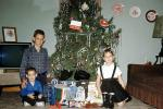 Kids, Children, brother, sister, siblings, television, sofa, Early Morning, Tinsel, Tree, 1960s