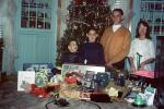 Kids, Children, Early Morning, Presents, Gifts, cateye glasses, 1960s