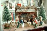 Nativity Scene, Trees, Camels, Sheep, 1950s